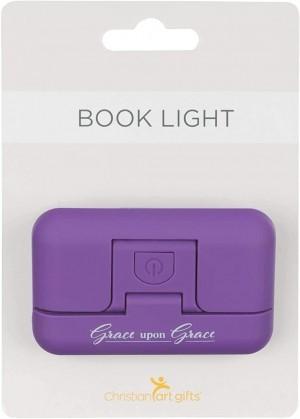 Luz de lectura con clip Grace upon Grace. Morada (inglés)
