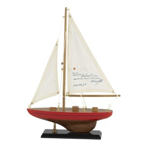 Barco Proverbios 3:6. Madera