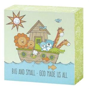 Placa Big and small - God made us all. MDF