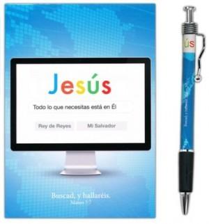 Bolígrafo y libreta Jesús, todo lo que necesitas