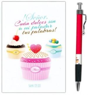 Bolígrafo y libreta ¡Señor, cuán dulces son a mi paladar tus palabras!