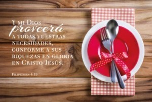 Cuadro canvás Filipenses 4:19