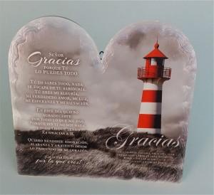 Placa/cuadro cerámica Gratitud