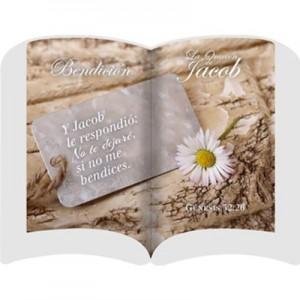 Placa/cuadro cerámica La oración de Jacob (Génesis 32:26)