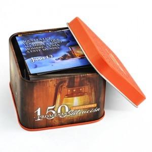 Promesas bíblicas Salvación. Caja metálica (150 tarjetas)