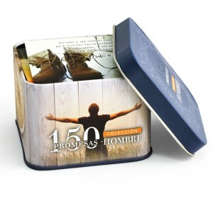 Promesas bíblicas Hombres. Caja metálica (150 tarjetas)