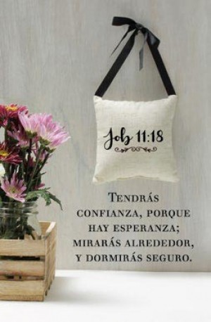 Placa/cuadro cerámica Job 11:18