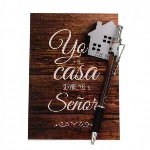 Libreta y bolígrafo Yo y mi casa (Josué 24:15)