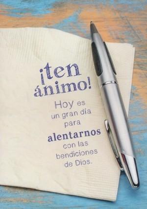 Tarjeta - ¡Ten ánimo! (Romanos 8:28)