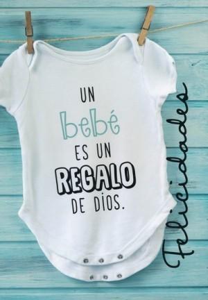 Tarjeta - Un bebé es un regalo de Dios. Azul (Santiago 1:17)