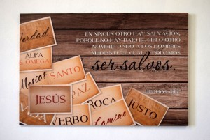 Cuadro canvás Jesús (Hechos 4:12)
