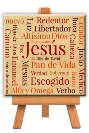 Minilienzo con caballete Jesús