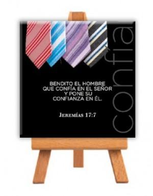 Minilienzo con caballete Confía (Jeremías 17:7)