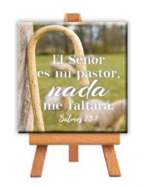 Minilienzo con caballete Pastor (Salmo 23:1)