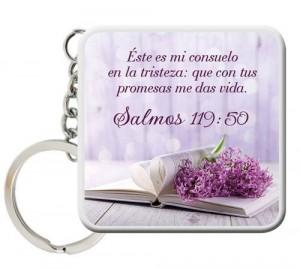 Llavero cuadrado Consuelo (Salmo 119:50)