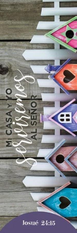 Marcador Casa (Josué 24:15) (pack de 25)