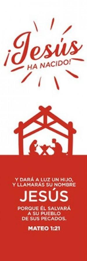Marcador ¡Jesús ha nacido! (Mateo 1:21) (pack de 25)