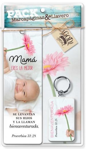 Llavero y marcador Mamá (Proverbios 31:28)