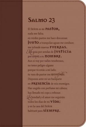 Funda para Biblia Salmo 23. 2 tonos. Marrón - L