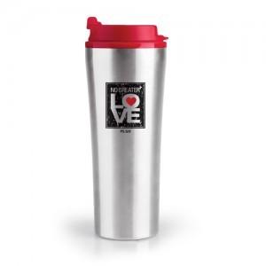 Botella térmica No Greater Love. Acero inoxidable/plástico