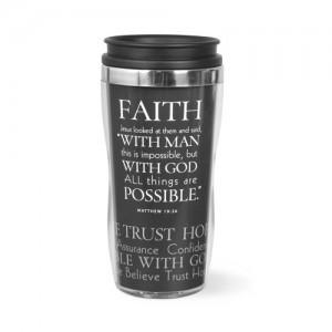 Botella térmica Faith. Acrílico/acero inoxidable. Morado