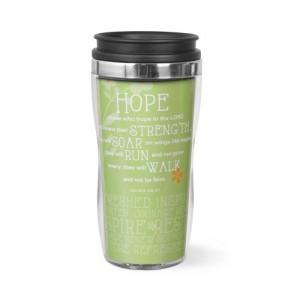 Botella térmica Hope. Acrílico/acero inoxidable. Lima