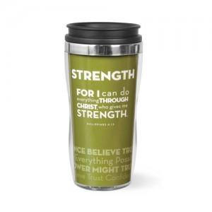 Botella térmica Strength. Acrílico/acero inoxidable. Verde oliva