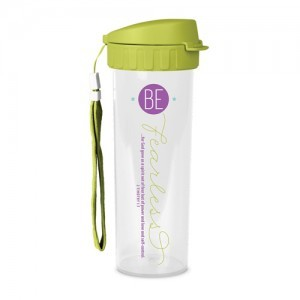 Botella térmica Be fearless. Plástico/acrílico. Verde
