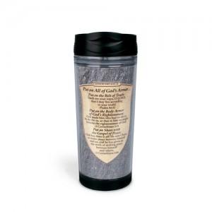 Botella térmica Armor of God. Acrílico/plástico