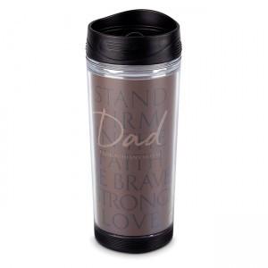 Botella térmica Dad. Acrílico/plástico. Marrón