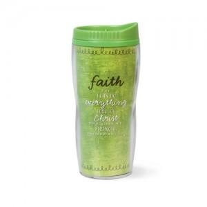 Botella térmica Faith. Acrílico/plástico. Verde