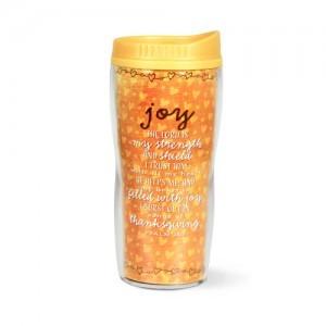 Botella térmica Joy. Acrílico/plástico. Naranja/amarillo