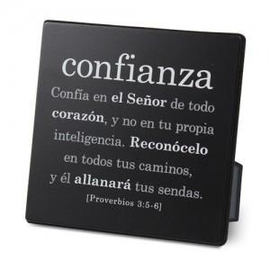 Placa sobremesa Confianza. Metal/MDF. Negro