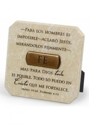 Placa de bronce Fe