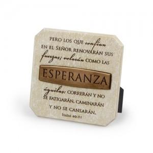 Placa de bronce Esperanza