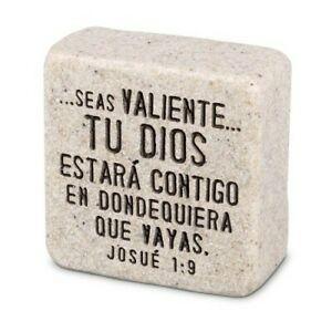 Placa Fortaleza (Josué 1:9). Piedra artificial