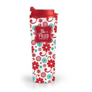 Botella térmica Be Filled. Acero inoxidable/plástico. Rojo
