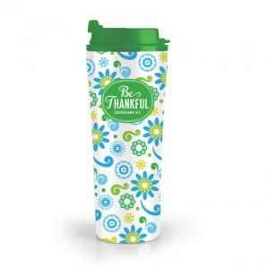 Botella térmica Be… Thankful. Acero inoxidable/plástico. Verde