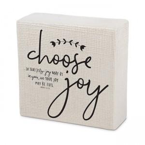 Placa Choose joy / Always believe. Cerámica