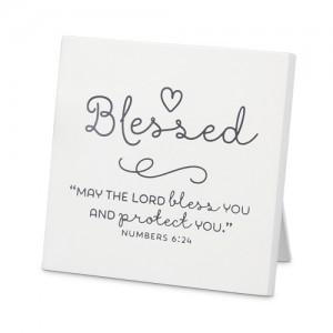 Placa Blessed. MDF
