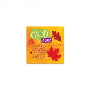 Imán God is good. Cerámica