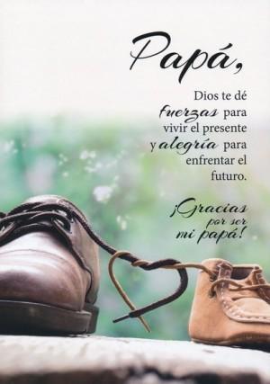 Tarjeta - Papá, Dios te de fuerzas