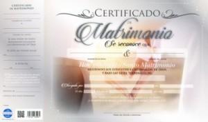 Certificado de matrimonio (pack de 20)