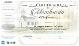 Certificado de membresía (pack de 20)