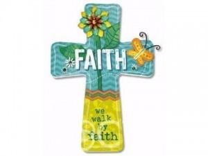 Cruz colgar Faith. MDF