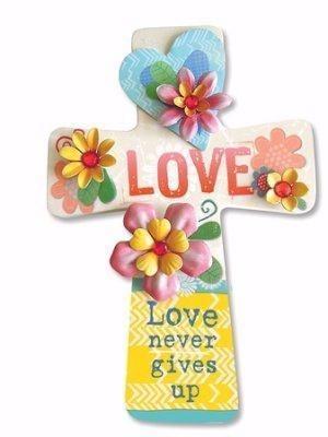 Cruz colgar Love. MDF