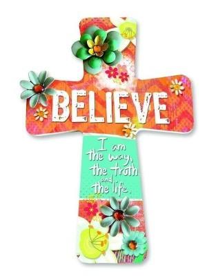 Cruz colgar Believe. MDF