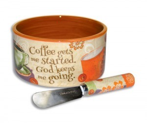 Bowl con esparcidor Coffee gets me started. Cerámica