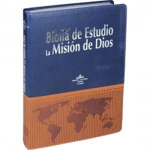 Biblia La Misión de Dios. 2 tonos. Azul/marrón - RVR60