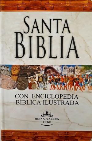 Biblia con enciclopedia ilustrada. Letra grande. Vinilo. Índice - RVR60